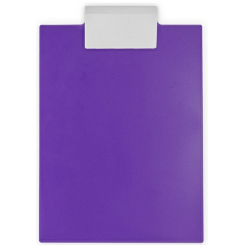 Violet/white Letter Clipboard as seen from the front