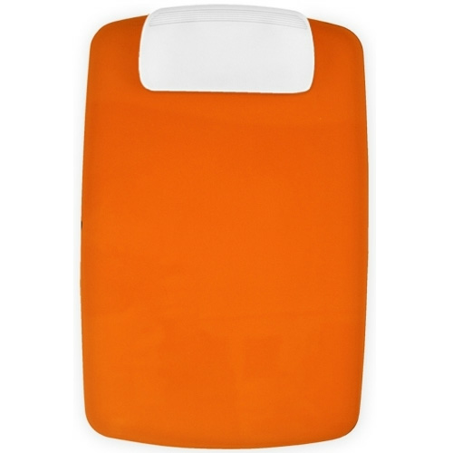 Transparent Orange/white Contour Clipboard as seen from the front