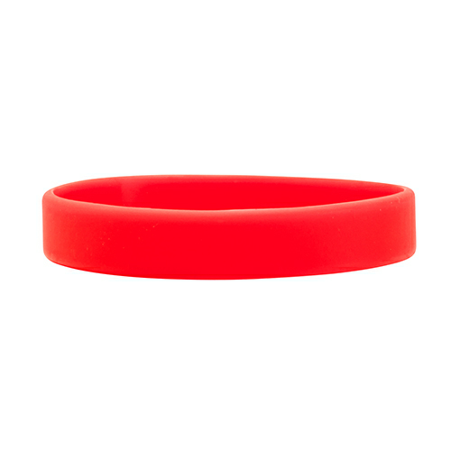 Red Color Filled Wristband 1/2