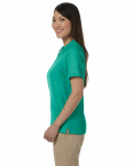 Augusta Green Ladies' Pima Pique Short-Sleeve Y-Collar Polo as seen from the sleeveright