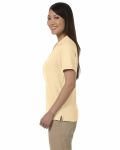Butter Ladies' Pima Pique Short-Sleeve Y-Collar Polo as seen from the sleeveright