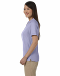 Lavender Ladies' Pima Pique Short-Sleeve Y-Collar Polo as seen from the sleeveright