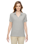 Silver Ladies' Pima Pique Short-Sleeve Y-Collar Polo as seen from the front