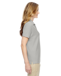 Silver Ladies' Pima Pique Short-Sleeve Y-Collar Polo as seen from the sleeveleft