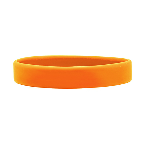 Orange Debossed Wristbands 1/2