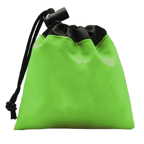 Lime Green Cinch Tote First Aid Kit as seen from the front