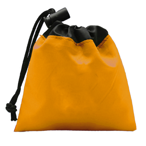 Orange Cinch Tote First Aid Kit as seen from the front