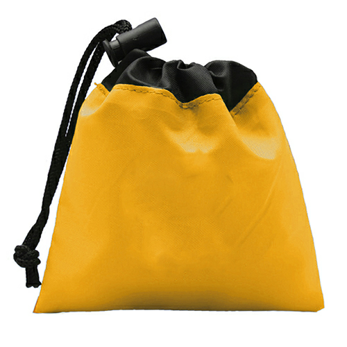 Yellow Cinch Tote First Aid Kit as seen from the front
