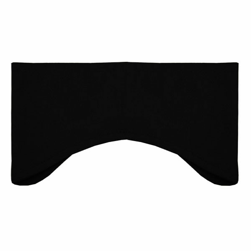 Black Performance Earbands as seen from the front