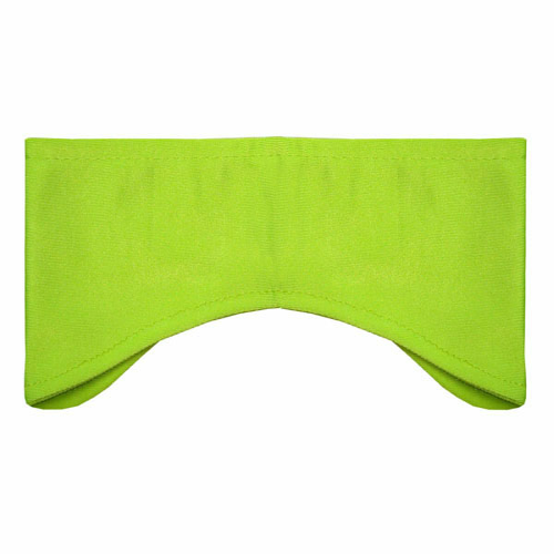 Fluorescent Yellow-green Performance Earbands as seen from the front