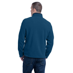 Deep Sea Blue Eddie Bauer Full-Zip Fleece Jacket as seen from the back