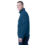 Deep Sea Blue Eddie Bauer Full-Zip Fleece Jacket as seen from the sleeveleft