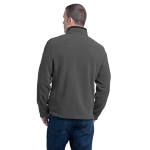Grey Steel Eddie Bauer Full-Zip Fleece Jacket as seen from the back