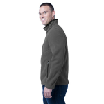 Grey Steel Eddie Bauer Full-Zip Fleece Jacket as seen from the sleeveleft