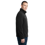 Black Eddie Bauer 1/4-Zip Fleece Pullover as seen from the sleeveright