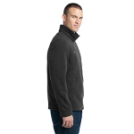 Grey Steel Eddie Bauer 1/4-Zip Fleece Pullover as seen from the sleeveright