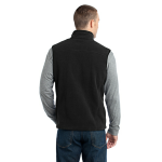 Black Eddie Bauer Fleece Vest as seen from the back
