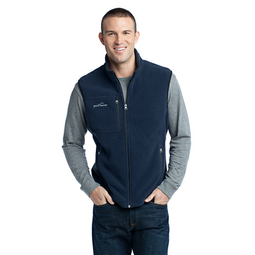 River Blue Eddie Bauer Fleece Vest as seen from the front