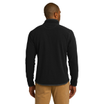 Black Eddie Bauer Full-Zip Vertical Fleece Jacket as seen from the back