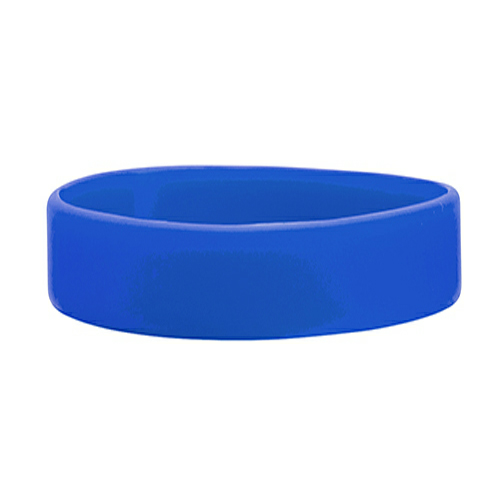 Royal Blue Embossed Wristband  1