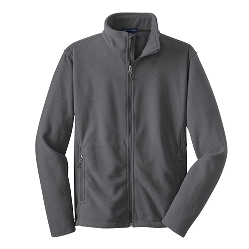 Iron Grey Port Authority Value Fleece Jacket as seen from the front
