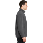 Iron Grey Port Authority Value Fleece Jacket as seen from the sleeveright