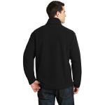 Black Port Authority Value Fleece 1/4-Zip Pullover as seen from the back