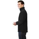 Black Port Authority Value Fleece 1/4-Zip Pullover as seen from the sleeveright