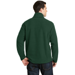 Forest Green Port Authority Value Fleece 1/4-Zip Pullover as seen from the back