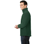 Forest Green Port Authority Value Fleece 1/4-Zip Pullover as seen from the sleeveright