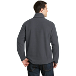 Iron Grey Port Authority Value Fleece 1/4-Zip Pullover as seen from the back