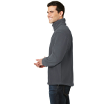Iron Grey Port Authority Value Fleece 1/4-Zip Pullover as seen from the sleeveright