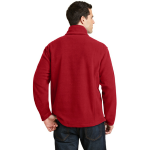True Red Port Authority Value Fleece 1/4-Zip Pullover as seen from the back