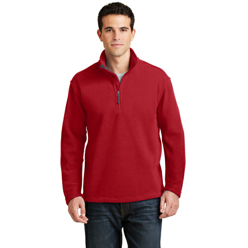 True Red Port Authority Value Fleece 1/4-Zip Pullover as seen from the front