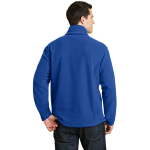 True Royal Port Authority Value Fleece 1/4-Zip Pullover as seen from the back