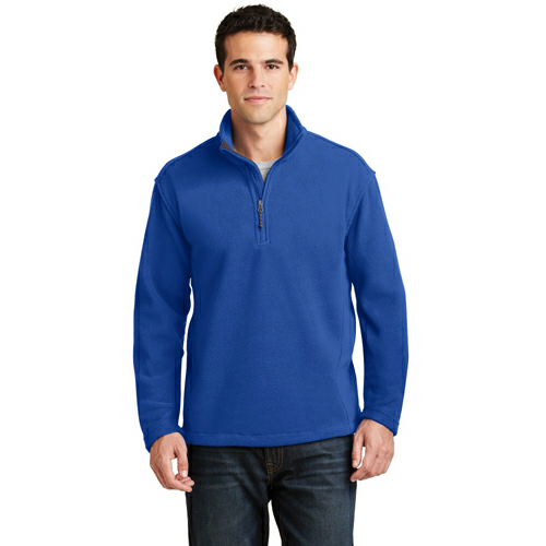 True Royal Port Authority Value Fleece 1/4-Zip Pullover as seen from the front
