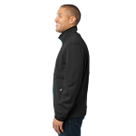Black Port Authority Pique Fleece Jacket as seen from the sleeveright