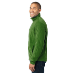 Chive Green Port Authority Microfleece Jacket as seen from the sleeveright