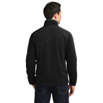 Black Bat Grey Port Authority Enhanced Value Fleece Full-Zip Jacket as seen from the back
