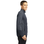 Batgy Pearl Gy Port Authority Colorblock Microfleece Jacket as seen from the sleeveright