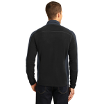 Black Bat Grey Port Authority Colorblock Microfleece Jacket as seen from the back
