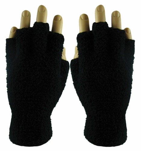 Fingerless Fuzzy Gloves