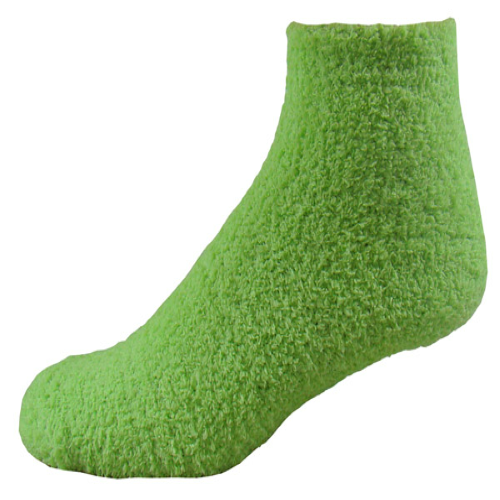 Light Green Fuzzy Feet as seen from the front