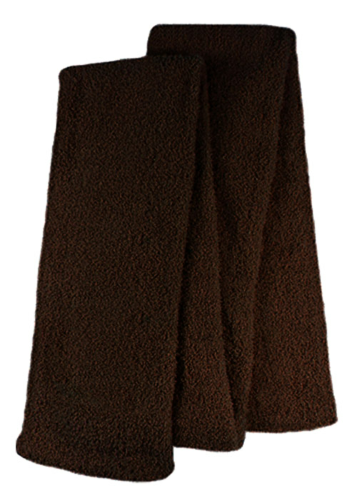 Brown Fuzzy Scarves as seen from the front