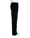 Black DryBlend 9.3 oz., 50/50 Open-Bottom Sweatpants as seen from the sleeveleft