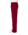 Cardinal Red DryBlend 9.3 oz., 50/50 Open-Bottom Sweatpants as seen from the sleeveright