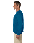 Antique Sapphire 7.75 oz. Heavy Blend™ 50/50 Fleece Crew as seen from the sleeveright