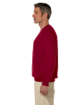 Cardinal Red 7.75 oz. Heavy Blend™ 50/50 Fleece Crew as seen from the sleeveright