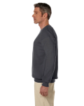 Charcoal 7.75 oz. Heavy Blend™ 50/50 Fleece Crew as seen from the sleeveright
