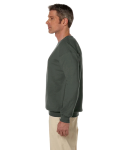 Military Green 7.75 oz. Heavy Blend™ 50/50 Fleece Crew as seen from the sleeveright